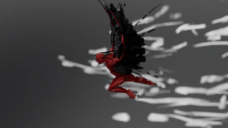 Winged Humanoid by chaitanyak