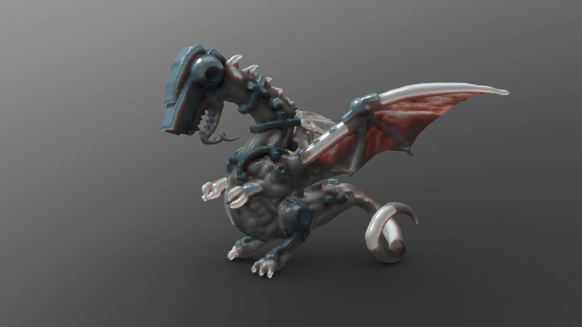 Cybernetic Dragon by chaitanyak