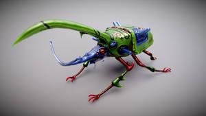Heavy Horned Beetle