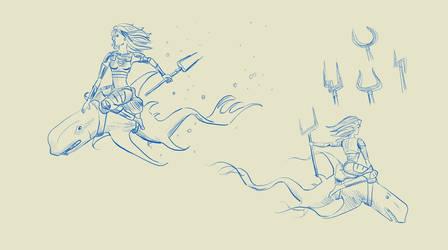 The Rider - Sketch
