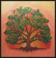 tree tattoo by zombiebe10u