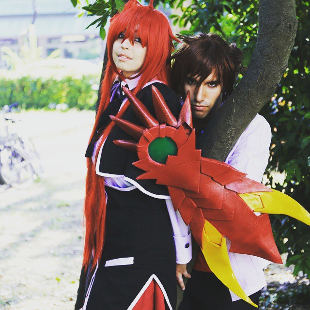 Rias Gremory e Issei Hyoudou cosplay-HighSchoolDxD by