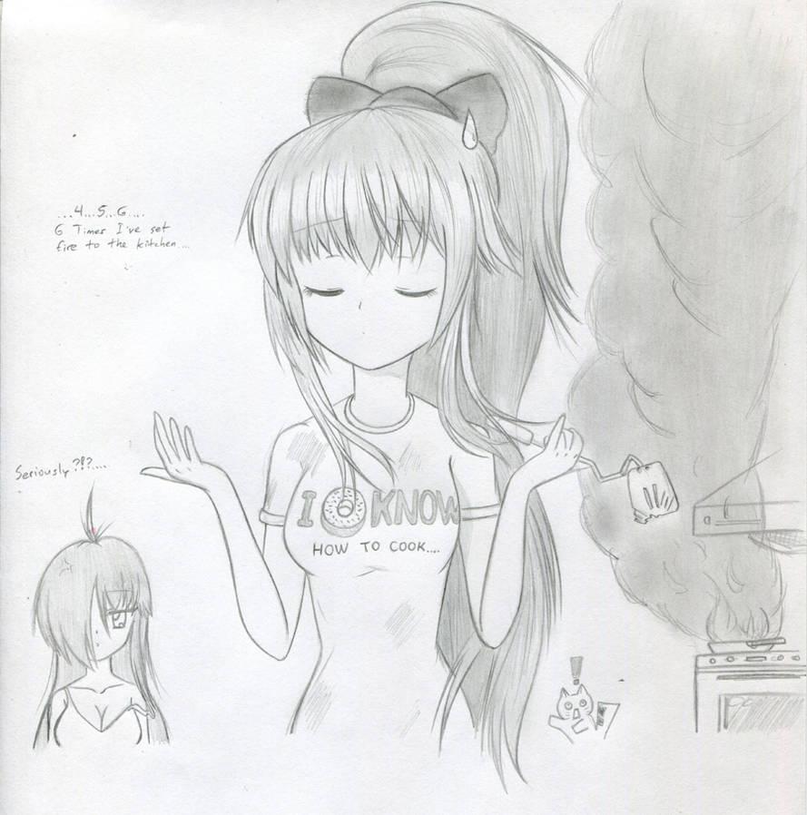 Asuka+ Cooking    by Sakamoto-chi on DeviantArt