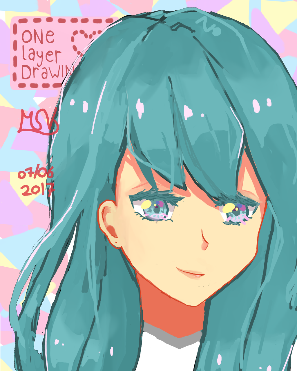 One Layer Drawing By Marifoxd On Deviantart