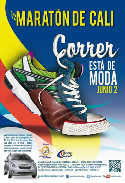 Afiche Imagen Oficial Media Maraton de Cali 2013 by Dk-San
