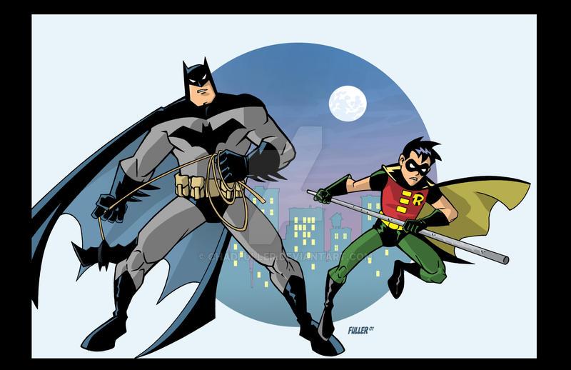 Batman and Robin cartoon by Chadfuller on DeviantArt