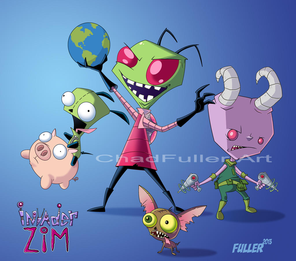 Invader ZIM and Gir by Chadfuller