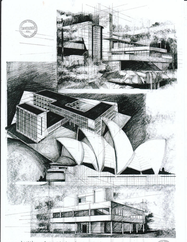 modern architecture drawing. Modern Architecture By AlinaGeorgia7 Drawing R