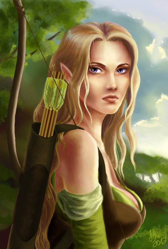 the elven ranger -updated- by IthillothElven Ranger Portrait