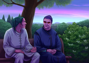 an evening talk in the imperial gardens by Ithilloth