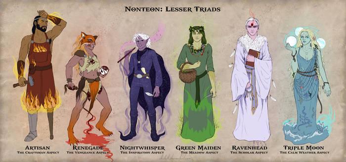 Nonteon: lesser triads