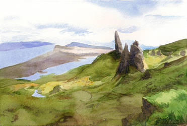 the old man of storr by Ithilloth