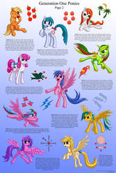 G1 Ponies Character Sheet, Page Two by Starbat