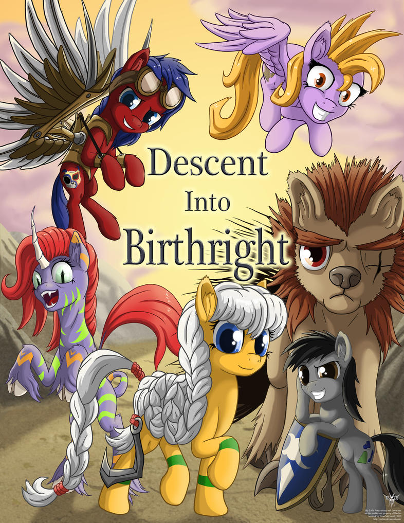 Descent into Birthright Cover Art COMMISSION by Starbat