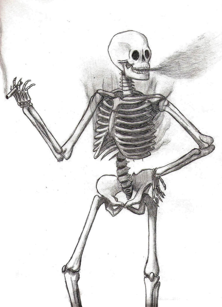 how to draw character skeleton sketch