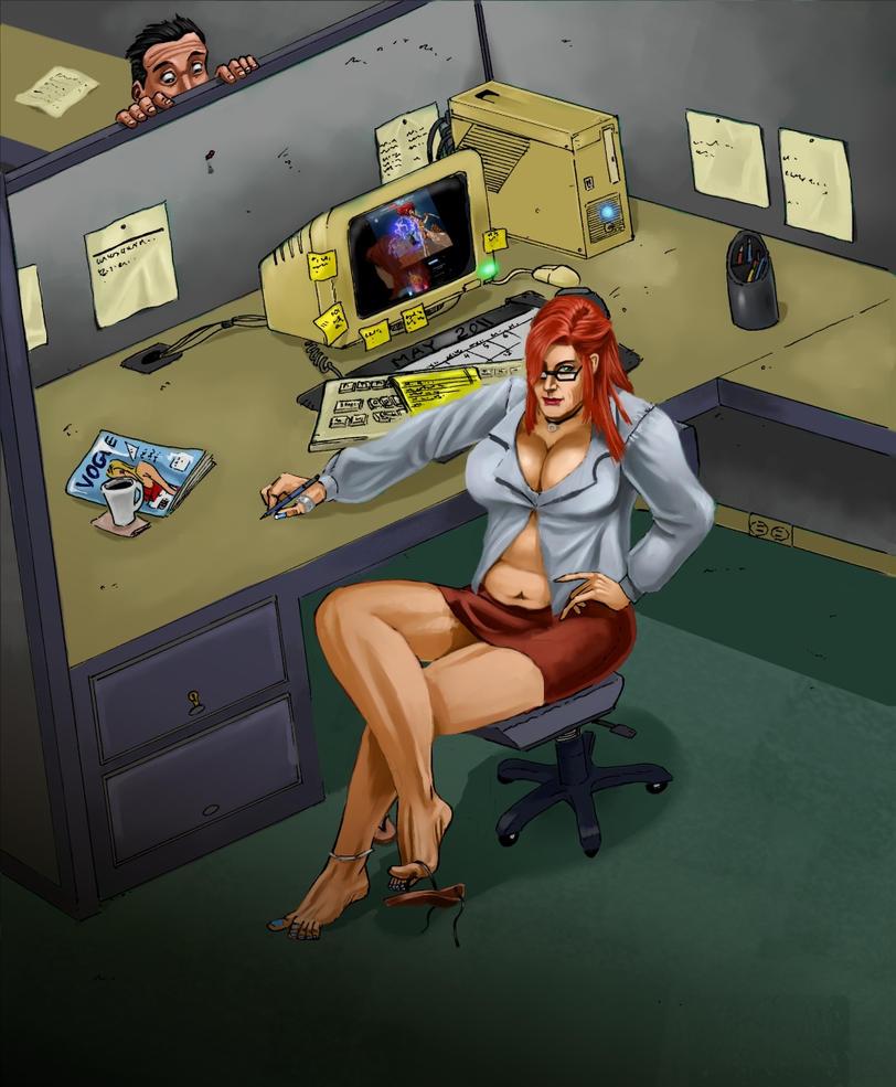 Bbw fat office assistant