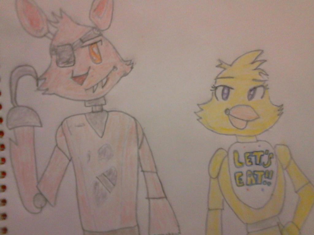 FNAF: FOXY Y CHICA by Darkcharlie2156
