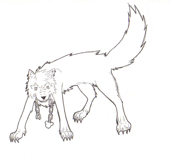 Roxas Wolf Outline By Twilightmasters On DeviantArt