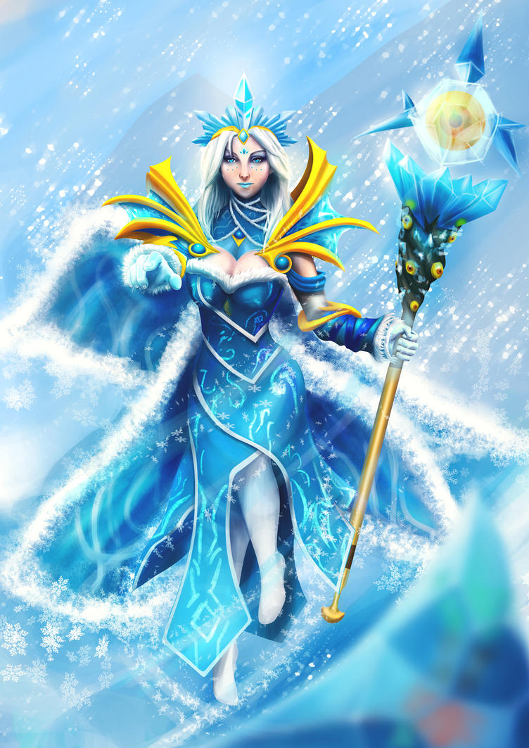 Princess of the Ice Wrack - Crystal Maiden Fanart by tutteeFX