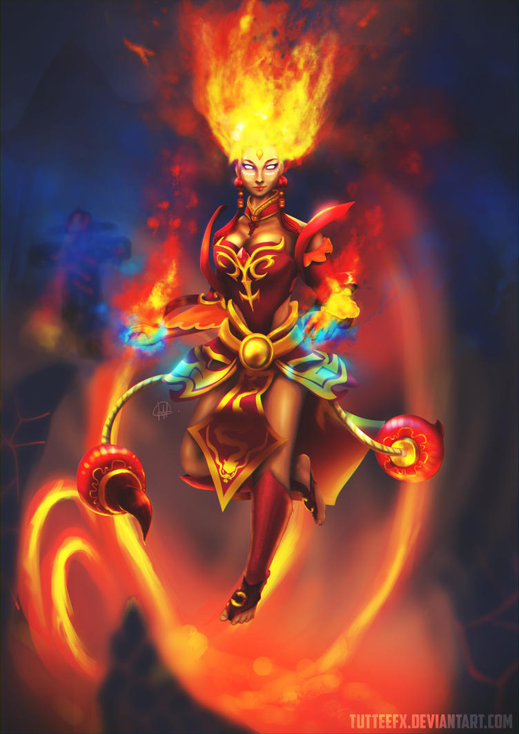 Fiery One - Lina Fanart by tutteeFX
