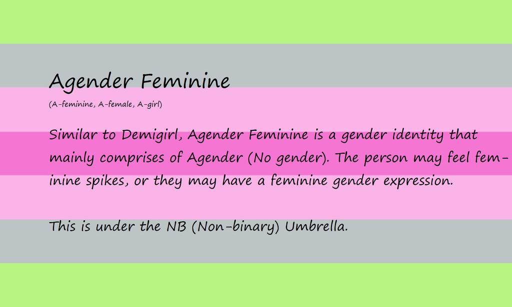 Agender Feminine Definition By TheGayFoxBoy ...
