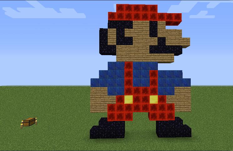 Super Mario Bros Nes in Minecraft Pixel Art by Whitefatbman on ...