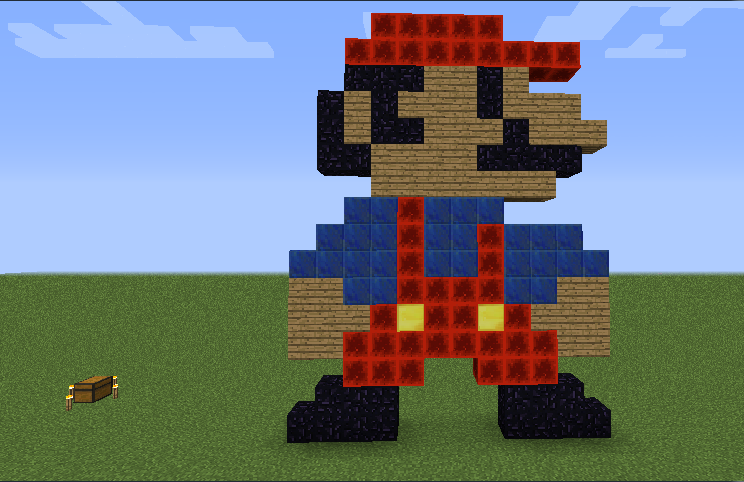 Super Mario Bros Nes In Minecraft Pixel Art By Whitefatbman On