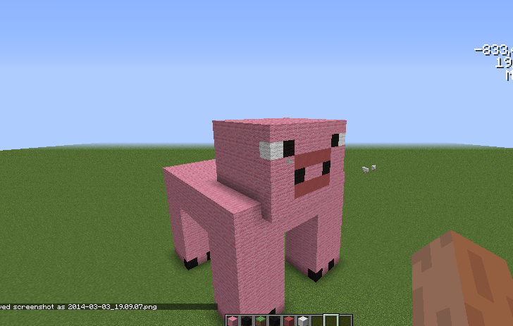 Minecraft pig face pixel art