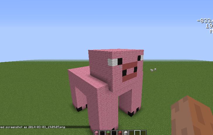 Minecraft Pig Face Build