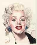 Marilyn Monroe Coloured Pencil Portrait