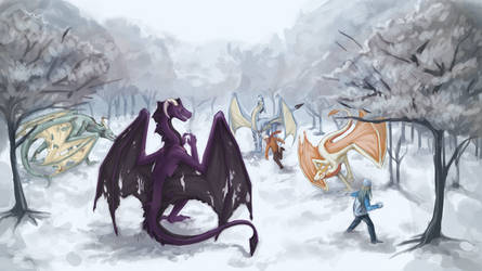 Snowball Fight by kmp0511