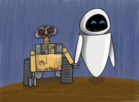 Wall-E and Eve by AnnieCooper