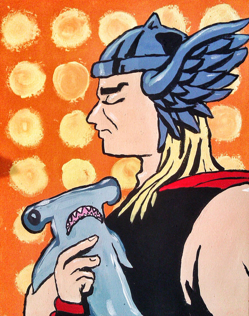 Thor and his Hammer by Saturdaythe13th