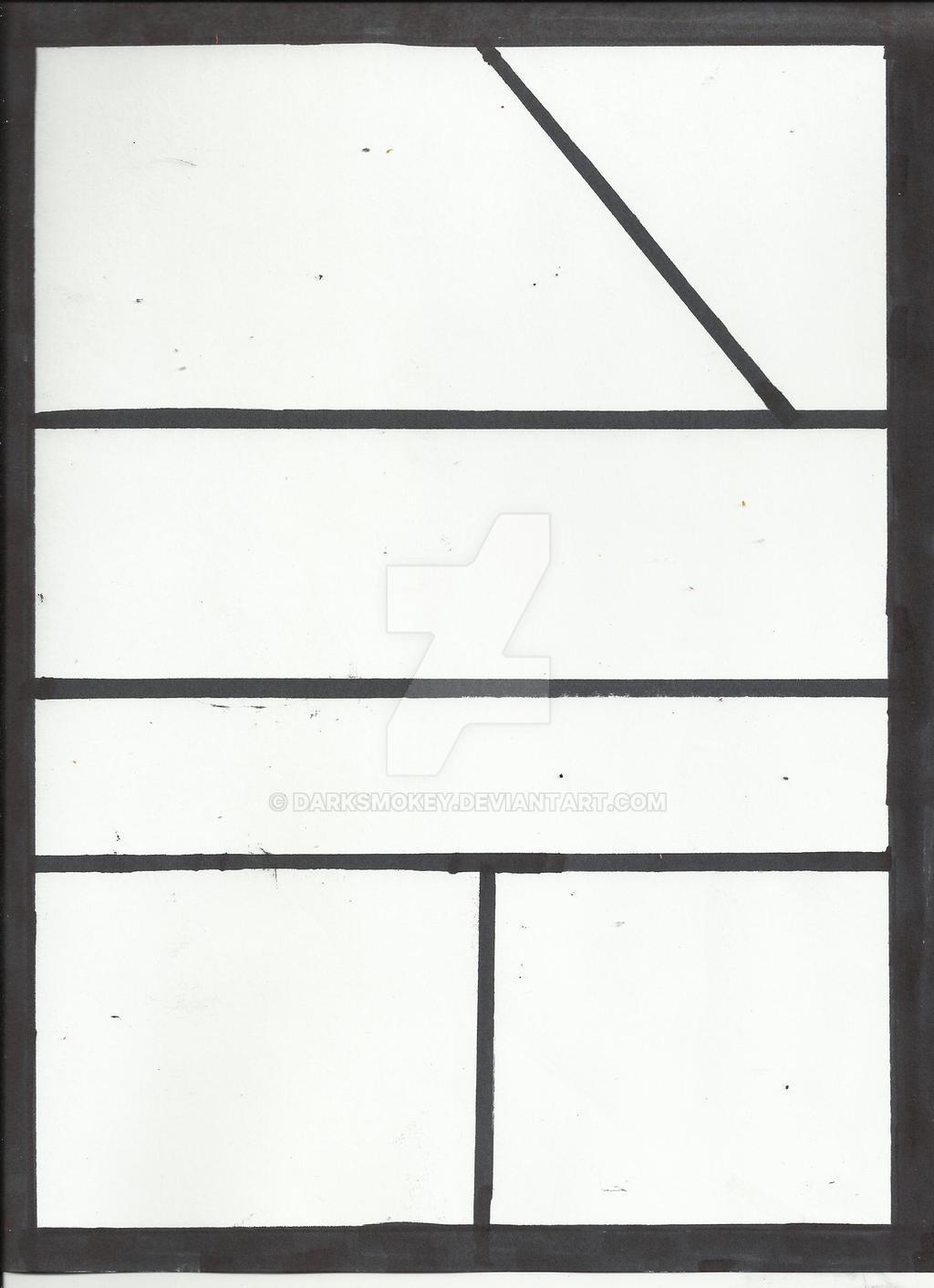 Empty Comic Strip Base By Darksmokey