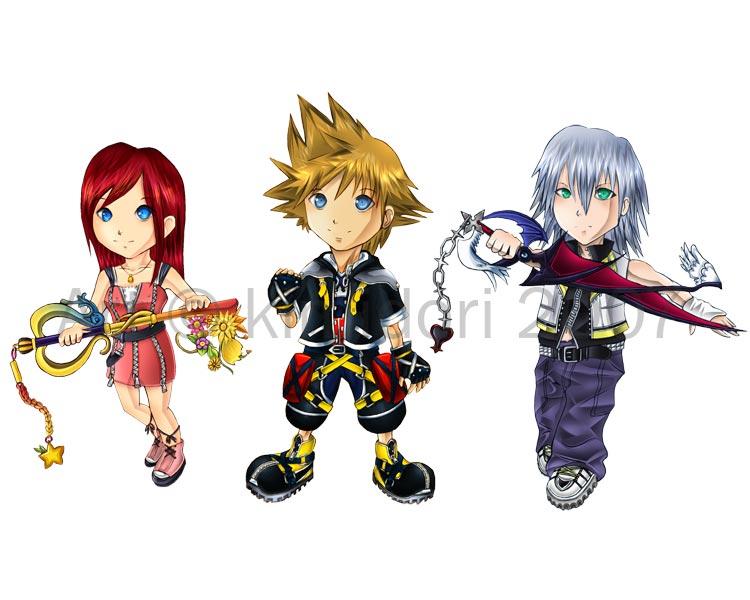 Kingdom Hearts Chibi set 1 by kimidori