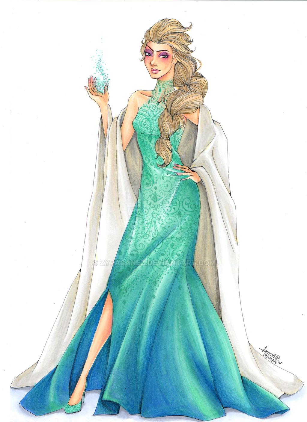 Fashion illustration elsa by zyrabanez on deviantart