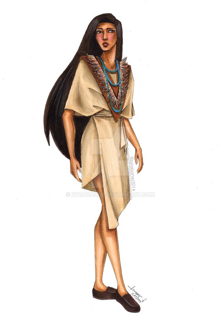 Pocahontas Dress Fashion Drawing