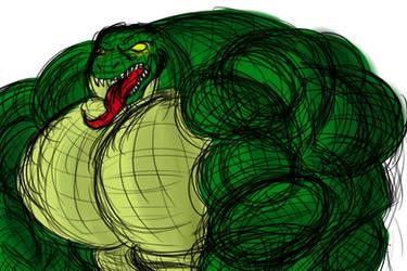 Bigass Muscular Lizard by EmotionCreator