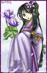 Lotus lady by SpiderLady-Hera