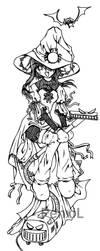 Holloween Coffy Line Art by SpiderLady-Hera