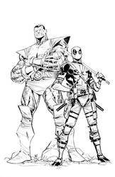 deadpool/ colossus by BChing