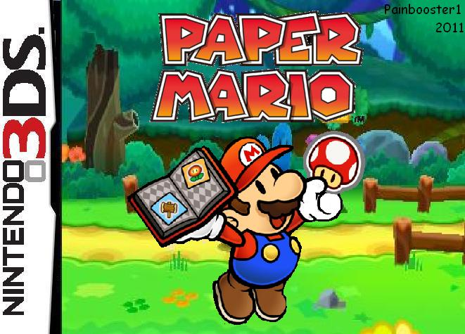 paper mario 3ds box fake by painbooster1 on deviantart