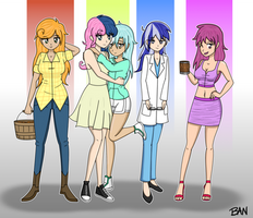 Background Ponies Human [Redux]