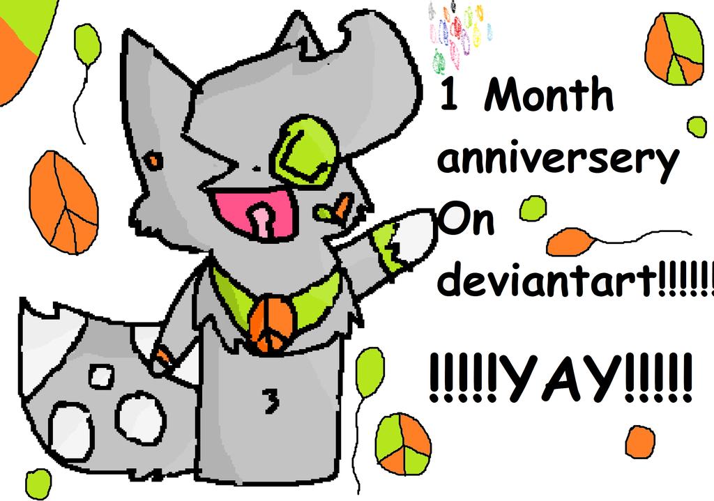 1 Month On Deviantart! by InvaderRain100