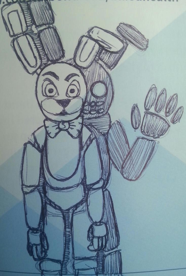 Bonnie with a familiar shadow by SageHedgehog