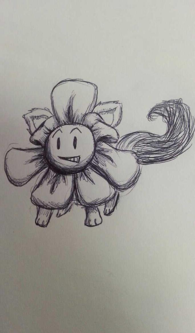 Howdy, I'm Flowey, Flowey the Flower cat by SageHedgehog
