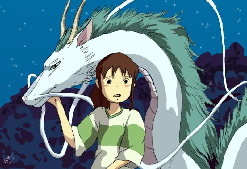Haku and Chihiro by bbslugger on DeviantArt