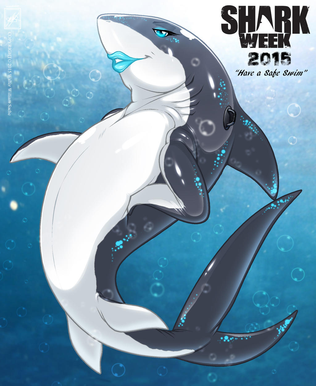Inflatable Pool Shark Toy_Happy Shark Week 2015!!! by wsache2020