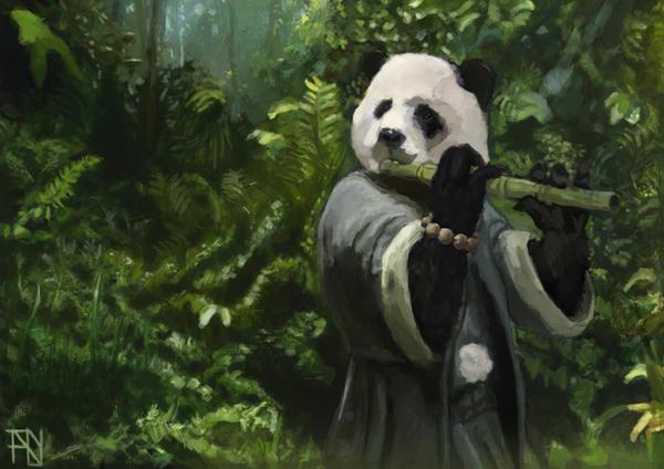 Panda Flautist by Fabianparente