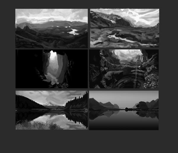 Landscape value thumbnails by Fabianparente